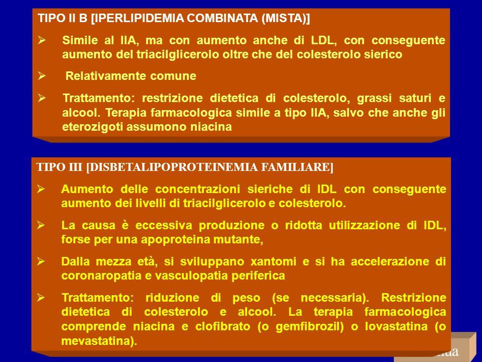 continua TIPO II B [IPERLIPIDEMIA COMBINATA (MISTA)]